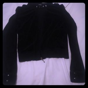 Juicy Couture Motorcycle Style Velour Jacket